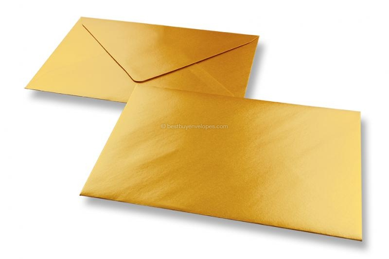 Deluxe greeting card envelopes, gold metallic