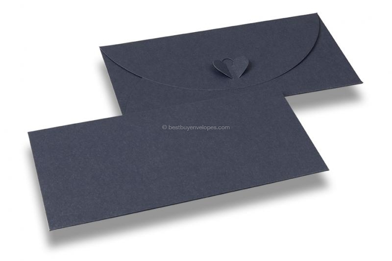 Envelopes with heart clasp - Blue