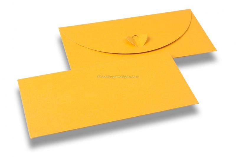 Envelopes with heart clasp - Gold