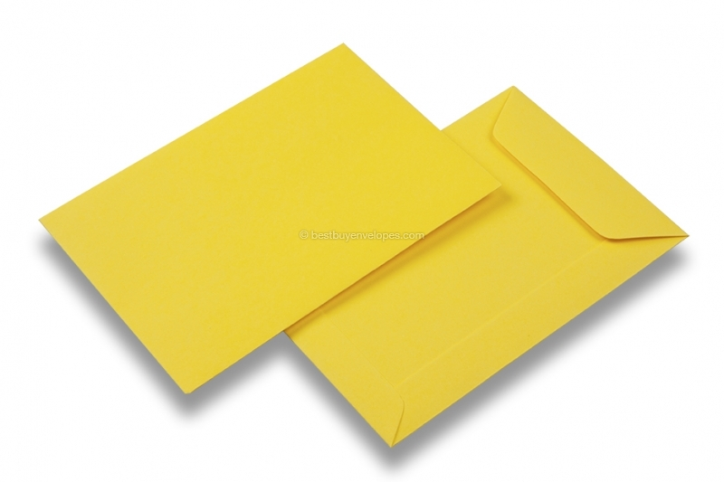 Coloured pocket envelopes - Buttercup yellow