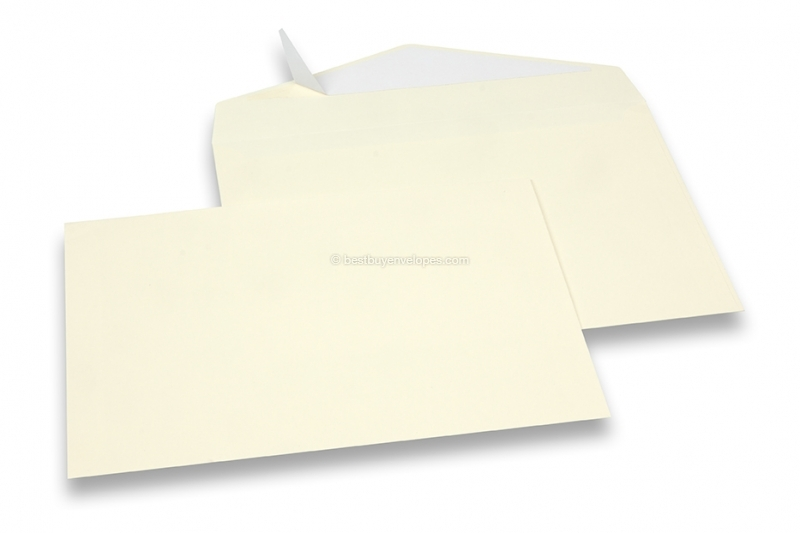 Soft yellow coloured greeting card envelopes with seal strip