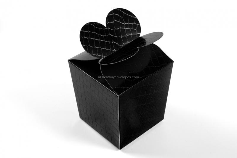Gift boxes, black leather motif