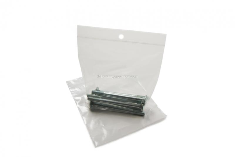Grip-seal bags - transparent (example with contents)