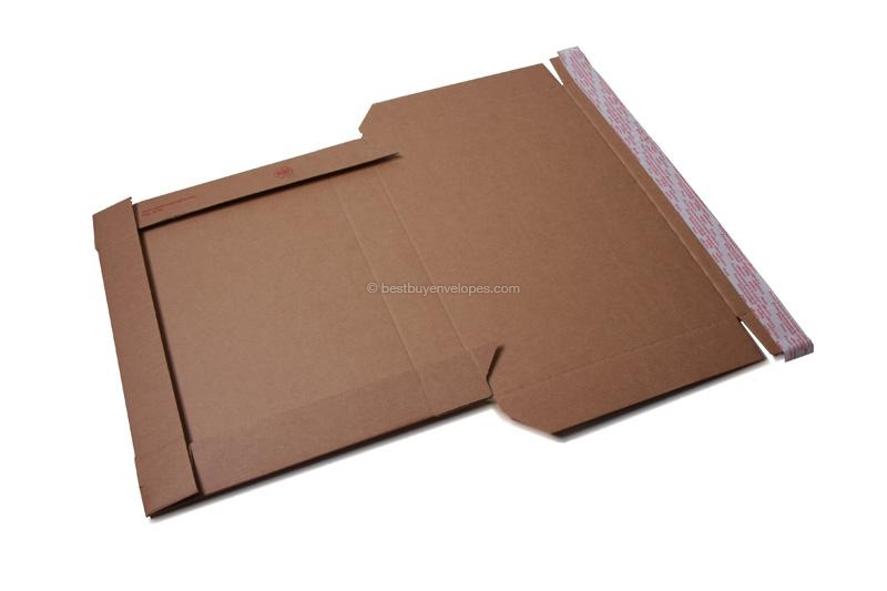 Brown self-adhesive mailing boxes - step 1