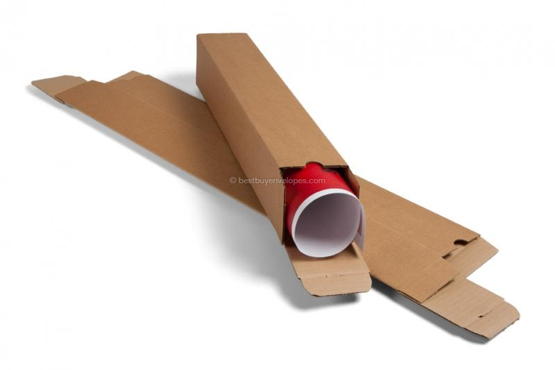 The mailing tubes are supplied flat