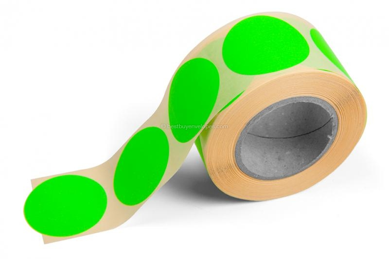 Round coloured labels - Green