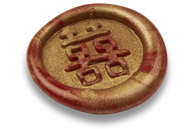 Wax seals - Japanese sign: Double Hapiness
