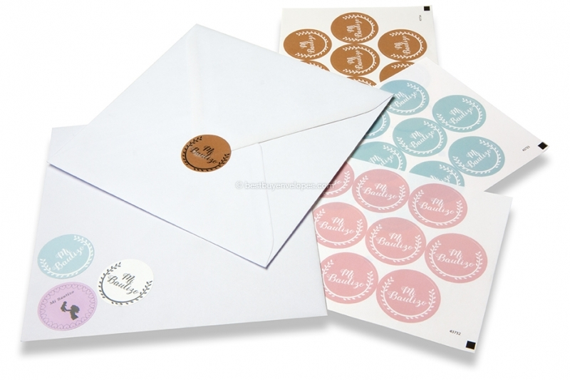Baptism envelope seals - various