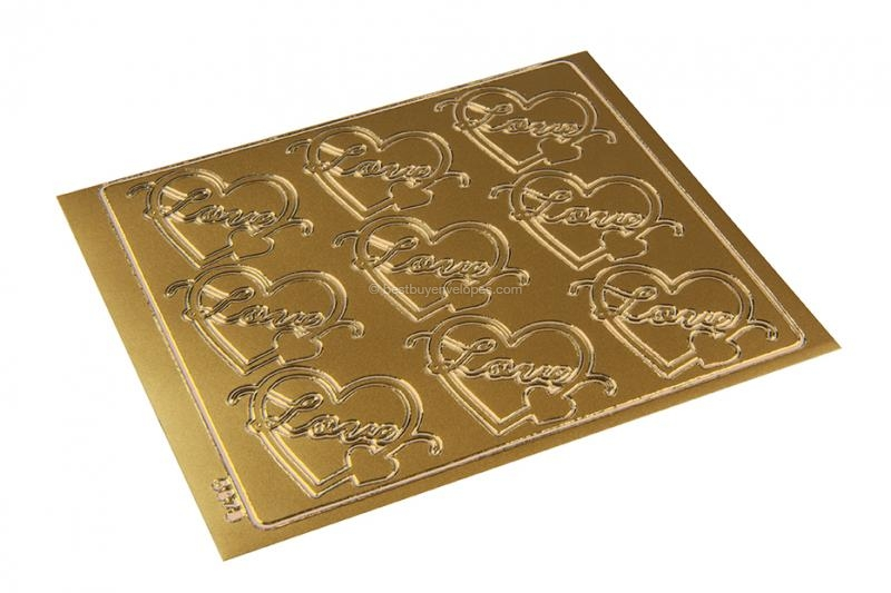 Love peel-off stickers - gold