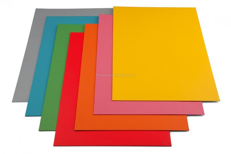 Matt coloured cardboard envelopes