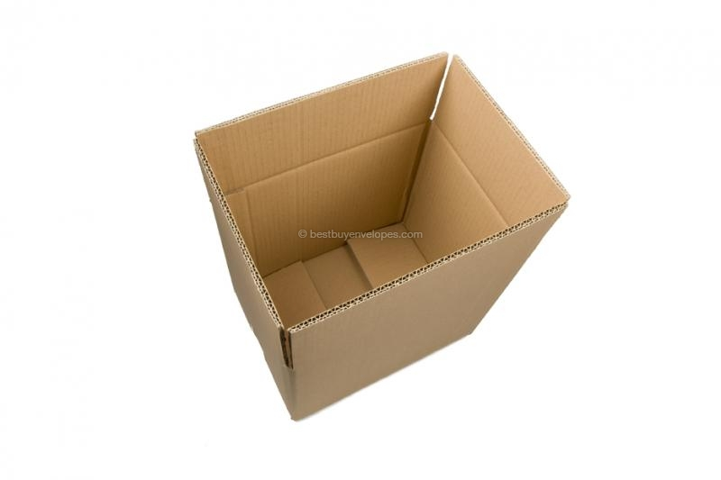 Brown double-corrugated cardboard boxes