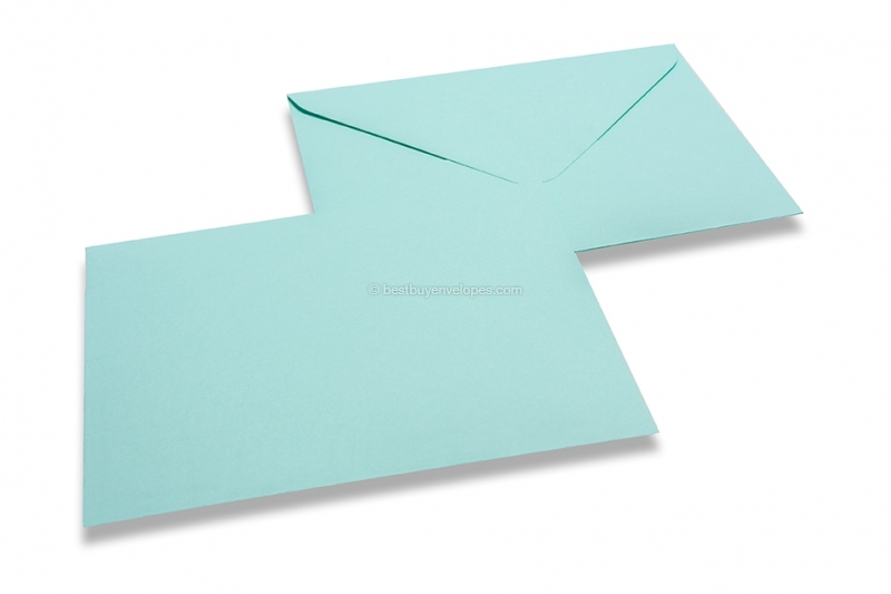 Coloured birth announcement envelopes, baby blue, 110x110-150x150