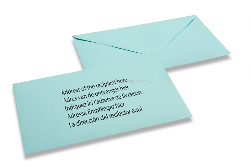 Coloured birth announcement envelopes baby blue