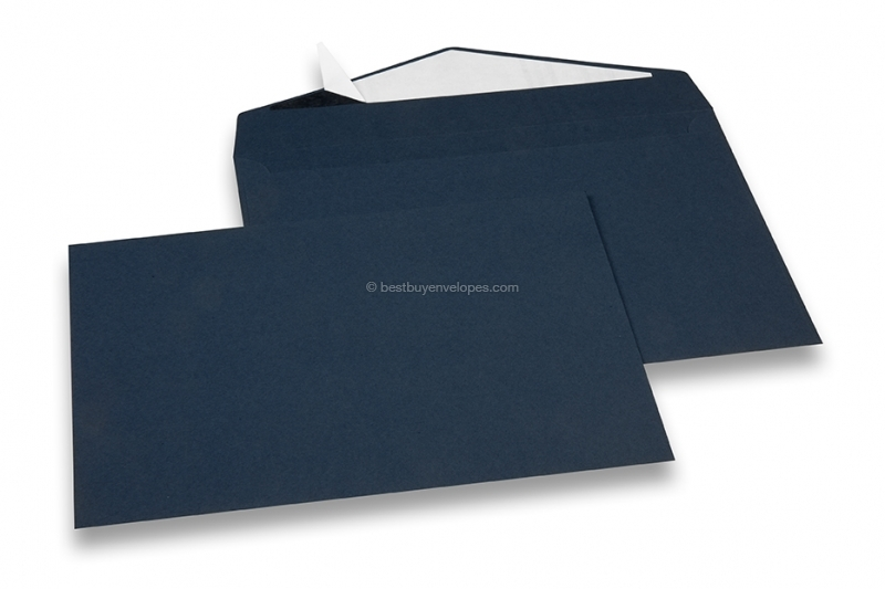 Dark blue coloured greeting card envelopes with seal strip