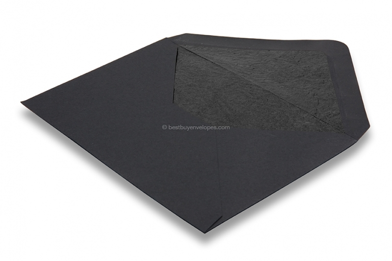 Lined black envelopes - black lined