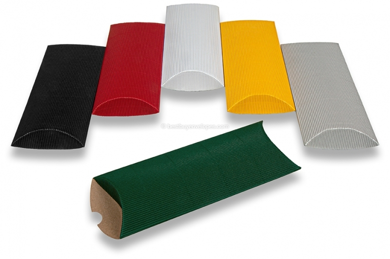Coloured ribbed pillow boxes