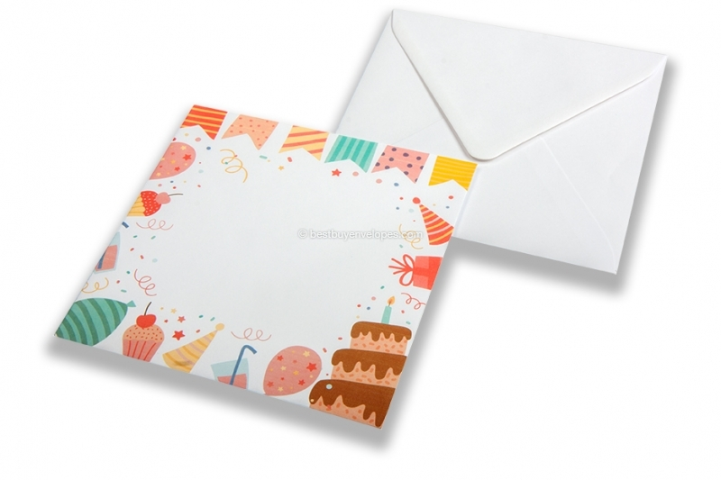 Birthday envelopes - decoration
