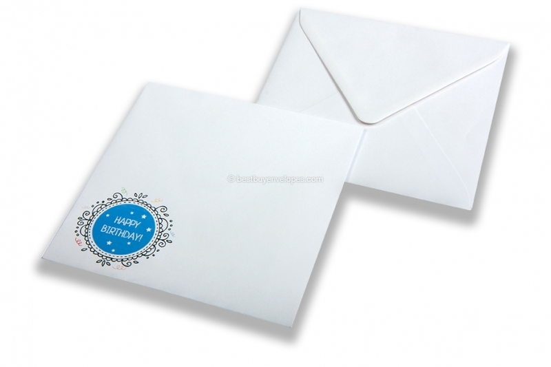 Birthday envelopes - happy birthday blue