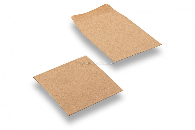 Recycled business envelopes, 60 x 60 mm, square, gummed, 70 grs.
