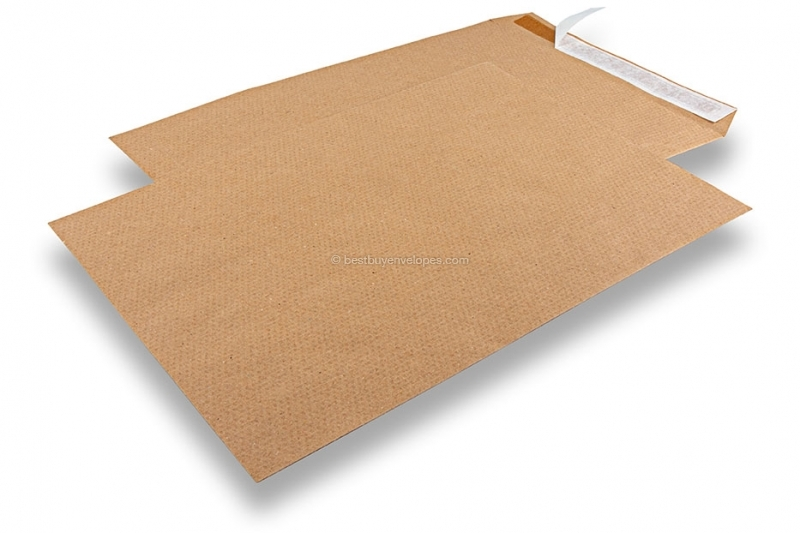 Recycled business envelopes, 229 x 324 mm, C 4, flap short side, peel & seal, 115 grs.