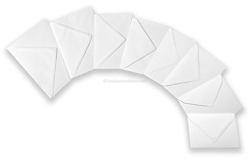 White greeting card envelopes