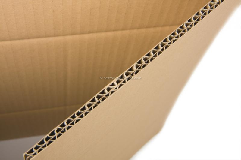 Material: Double (BC) corrugation, brown, 7 mm thick