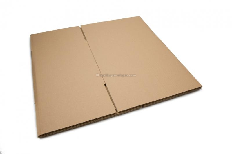 Double-corrugated cardboard boxes - opened out (unfolded)