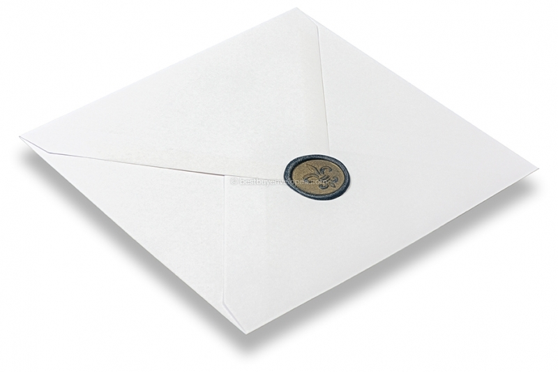 Wax seals - French lily dark blue on envelope