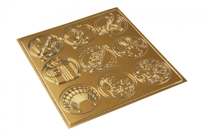 Party peel-off stickers - gold