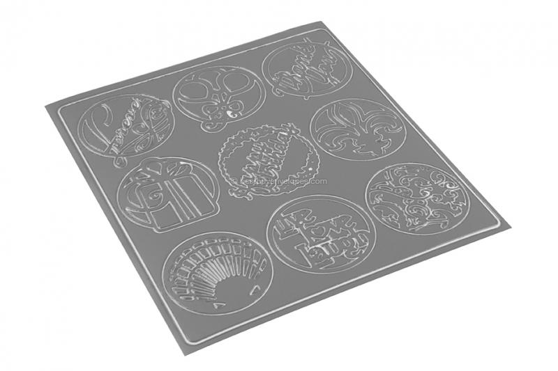 Party peel-off stickers - grey