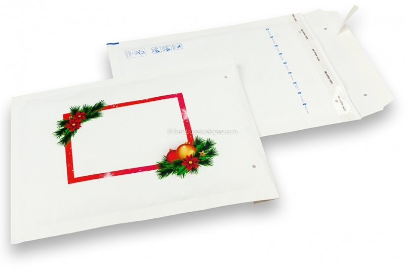 White Christmas bubble envelopes- christmas decoration