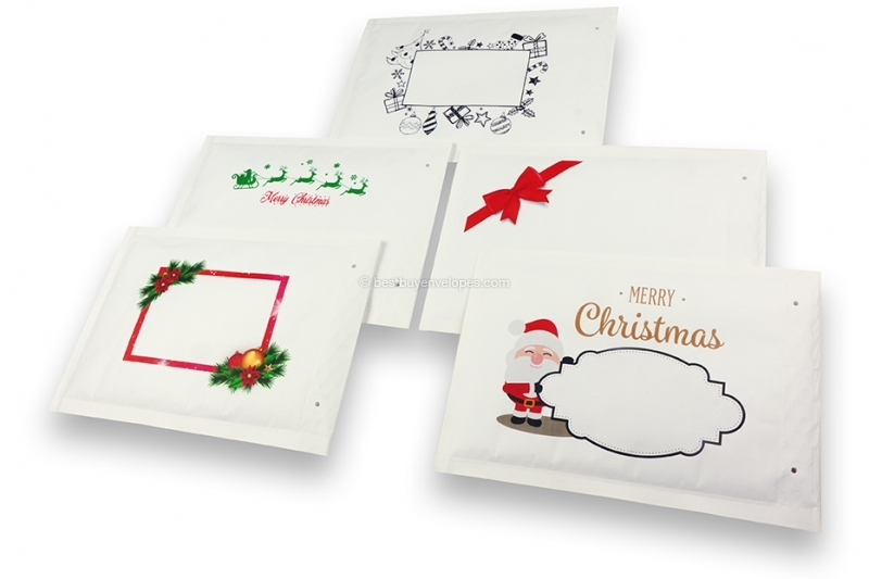 White Christmas bubble envelopes- compilation